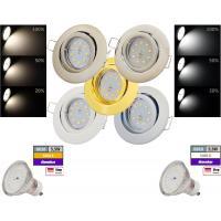 SMD LED Einbauspot Timo / 3 - Stufen Dimmbar per Lichtschalter / 230Volt / 5W