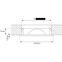 LED Modul Einbaustrahler Tomas | 230V | 5W | Smart Wifi | RGB + CCT