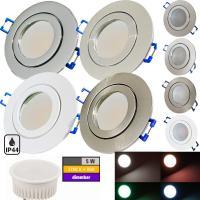 LED Einbaustrahler Marina / 230V / 5W / SMART WIFI / ET = 32mm / IP44 / RGB + Warmweiss