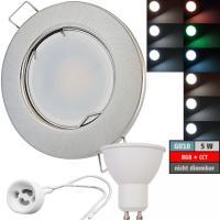 LED Einbaustrahler Tom | 230V | 5W | Smart Wifi | RGB + CCT | Silber | GU10