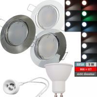 LED Modul Einbaustrahler Jan | 230V | 5W | Smart Wifi | RGB + CCT | GU10