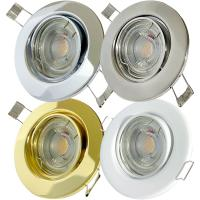 Einbaustrahler Tomas / LED Leuchtmittel 230Volt / 7Watt / 45° Schwenkbar