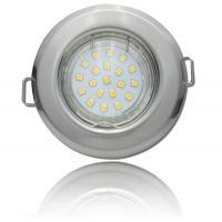 SMD LED Einbaustrahler Tom / 230Volt / 5Watt / 400Lumen / Silber