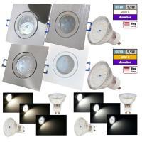 Step Dimmbar | 5W SMD LED Bad Einbauleuchte Marin 230 Volt | IP44