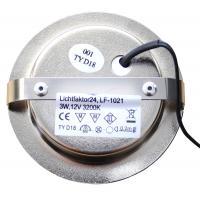 10er Set Möbeleinbaustrahler 12Volt + Halogenlampen 20Watt + Stromkabel und 105W Trafo + Verteileranschluß.