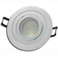 SMD LED Einbaustrahler Sandy / 3 - Stufen Dimmbar per Lichtschalter / 230Volt / 5W / Aluminium