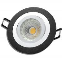 MCOB LED Einbauleuchte Sandy 230V / 7W=70W / DIMMBAR / Schwarz