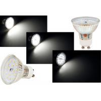 9er Set: COB LED Einbauspots Sandy 230V 7W=52W DIMMBAR - Aluminium gebürstet - Gu10 Hochvolt