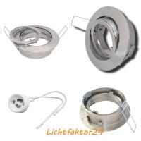 LED Einbaustrahler Lara / LED / 230V / Dimmbar / Starke 450Lumen / 7W=52W / Silber satiniert