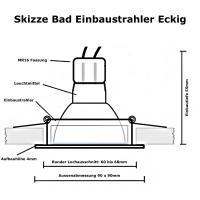 Einbaustrahler Mia / 230V / Halogen / Gu10 / Schwarz gebürstet