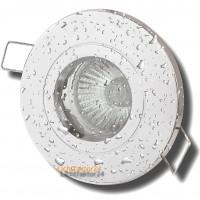 SMD LED Bad Einbauleuchte Nautik 230V / 5Watt / IP44 / Silber