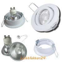 Runder Glas Einbaustrahler Laura | LED | 230Volt | 3W - 5W oder 7Watt | Starr | Klarglas