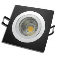 Einbaustrahler Linus / LED Leuchtmittel 230V / 7Watt / 500Lumen / Aluminium / Schwarz