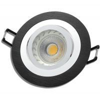Einbaustrahler Leonie / LED Leuchtmittel 230V / 5Watt / 400Lumen / Aluminium / Schwarz