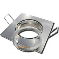 230Volt / LED Bad Einbaustrahler Nautik / mit 3W, 5W oder 7W LED / 83 x 83 mm / IP44 / Chrom Matt