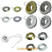 IP54 Badeinbaustrahler / Halogen / 230Volt / Aluminium / Schutzglas / Dichtung / Feuchtraum und Nassbereich