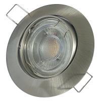 Eckiger Glas SMD LED Einbaustrahler Laura | 230V | 3W, 5W oder 7Watt | Schwarz