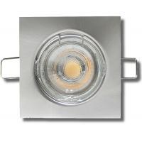 LED Einbaustrahler Tom / 230V / 3W - 5W oder 7Watt / Eckig / Silber