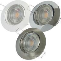 Einbaustrahler Lara / LED Leuchtmittel 230Volt / 3W - 5W oder 7Watt  / Silber / Gesandet / Satiniert