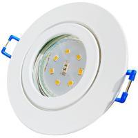 Großer SMD LED Einbaustrahler Timo / 230Volt / 5W / STEP DIMMBAR / D=185 mm / Loch = 70 bis 170 mm