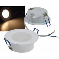 12Volt Badeinbauleuchte / IP44 / Wasserdicht / SMD LED / 3W=30W / Schutzglas / Quadratisch / Silber