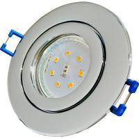 5W SMD LED Einbauleuchte Nautilus 230V / IP54 / Feuchtraum, Innen und Aussen / Silber