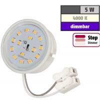 Sets = Quadratische LED Bad-Einbaustrahler Nautik 230V und Einbauspot Dario 230Volt / 5W / IP44 / EEK A+