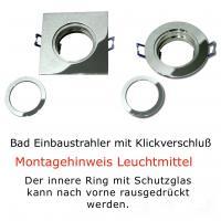 Einbaustrahler Lara / Halogen / 230Volt / Dimmbar / Aluminium gesandet / Silber