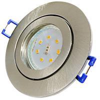 12Volt / Feuchtraum / Einbauleuchte / LED / 3W / IP44 / Aluminium / Rostfrei / Matt Chrom gebürstet