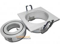 4 x Einbaustrahler Mia 230Volt + Gu10 Halogen LM - Material und Optik in Aluminium - drehbar und schwenkbar