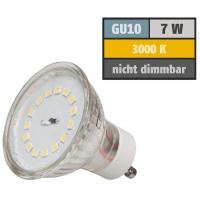 4er Set / Flache LED Einbauspots Lina / 12Volt / 3W / Kabelbaum / Stecker/ Verteilerleiste / LED Trafo / Einbautiefe nur 15mm