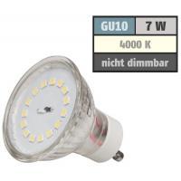 SMD LED Einbauleuchte Dario / 230V / 7Watt / Quadratisch / Aluminium / Bajonettring / 470 Lumen