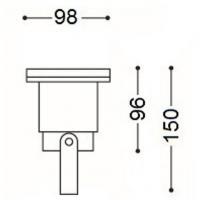 2 x Deckenstrahler MIA 12V Aluminium Einbauspots + 3W Power LED + Trafo. Drehbar und schwenkbar.
