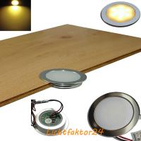 7er Set = Einbaustrahler Jan / MCOB LED Leuchtmittel 230Volt / 3W - 5W oder 7Watt / Schwenkbar