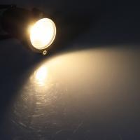 LED Gartenleuchte / Warmweiß / 5W / 230V / 1,5m Kabel / Erdspieß / Schwarz