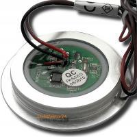 1er Set - Flacher LED Einbaustrahler Alina 12Volt, 3W mit 12W LED Trafo und Zuleitung / Schwenkbar / IP20