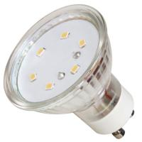 SMD LED Leuchtmittel 230Volt - 3Watt - WARMWEISS 3000Kelvin - 120° Abstrahlwinkel - Sockel Gu10