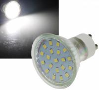 SMD LED Leuchtmittel 230Volt - 3Watt - NEUTRALWEISS 4000Kelvin - 120° Abstrahlwinkel - Sockel Gu10
