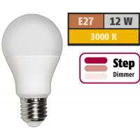 LED Glühlampe E27,12W, 1055 Lumen, 3000K, Warmweiß, Step dimmbar 100% -> 50% -> 10%