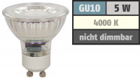 Reflektor MCOB LED Leuchtmittel 230Volt - 5Watt - NEUTRALWEISS - 420 Lumen - Sockel Gu10 - 36° Leuchtwinkel