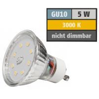 SMD LED Leuchtmittel 230Volt - 5Watt - WARMWEISS 3000Kelvin - 120° Abstrahlwinkel - Sockel Gu10