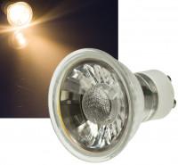 Reflektor MCOB LED Leuchtmittel 230Volt - 5Watt - WARMWEISS - 400 Lumen - Sockel Gu10 - 36° Leuchtwinkel