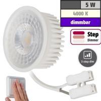 MCOB LED-Modul, 5Watt, 400 Lumen, 230Volt, Step dimmbar, Neutralweiß, 4000Kelvin