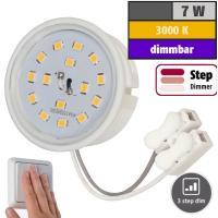 LED-Modul, 7Watt, 510Lumen, 230Volt, Step dimmbar, 50 x 33mm, Warmweiß, 3000Kelvin
