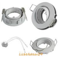 2er Set LED Einbaustrahler Alina 12Volt 3W inkl. 12W LED Treiber, Stromkabel und AMP Verteiler. Schwenkbar. IP20