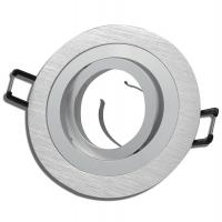 Einbaurahmen / Einbaufassung / 12Volt / Sandy / OHNE Leuchtmittel / Silber und Schwarz