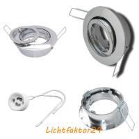 Decken Einbaustrahler Timo 230Volt - Ohne Leuchtmittel mit Gu10 Strom Fassung. Für 50mm Leuchtmittel. Farbe Chrom