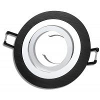 Aluminium Einbaustrahler Sandy / 230Volt / Schwarz / Gu10 Fassung / Ohne Leuchtmittel