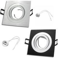 Einbaurahmen / Einbaufassung / 12Volt / Mia / OHNE Leuchtmittel / Silber und Schwarz