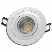 2 x 87mm Niedervolt Einbauspots Tomas 12Volt + 3Watt LED Leuchtmittel. Leuchtkraft wie 25Watt Halogen. Inklusive LED Treiber